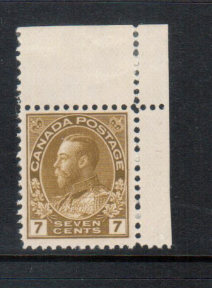 Canada #113b VF/NH **With Certificate**
