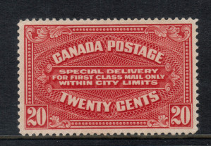 Canada #E2a XF/NH **With Certificate**