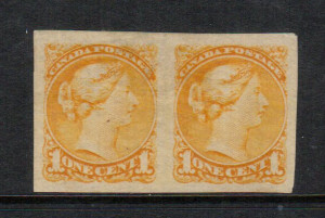 Canada #35b VF Mint Imperf Pair **With Certificate**