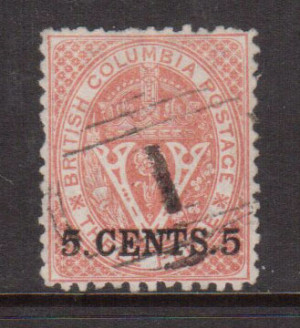 British Columbia #14 XF Used Gem **With Certificate**