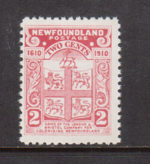 Newfoundland #88c VF/NH **With Certificate**