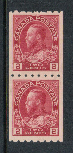 Canada #124 XF/NH Coil Pair **With Certificate**