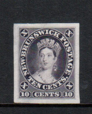New Brunswick #5TCi XF Die Proof In Violet **With Certificate**