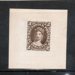 New Brunswick #7DP XF Goodall Die Proof India Paper On Card **With Certificate**