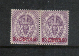 British Columbia #12 VF Mint Pair **With Certificate**