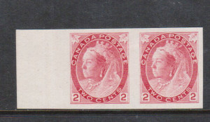 Canada #77d XF Mint Imperf Pair **With Certificate**