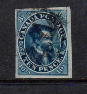 Canada #7a VF Used **With Certificate**