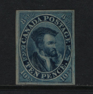 Canada #7 VF Mint Unused (No Gum) **With Certificate**