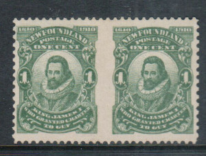 Newfoundland #87c VF/NH Imperf Pair **With Certificate**