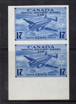 Canada #CE2a XF/NH Imperf Pair **With Certificate**