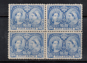 Canada #60 XF/NH Block **With Certificate**