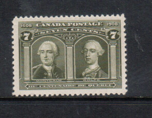Canada #100 XF/NH **With Certificate**