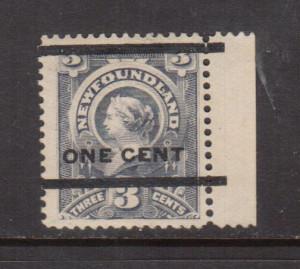 Newfoundland #77 XF Mint Type C Overprint
