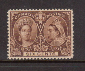 Canada #55 XF/NH Gem **With Certificate**