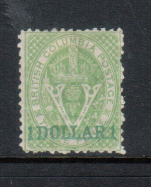 British Columbia #18 Mint **With Certificate**