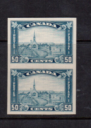 Canada #176a XF/NH Imperf Pair **With Certificate**