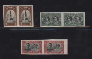 Canada #246a #247a #248a XF/NH Imperf Set  **With Certificates**