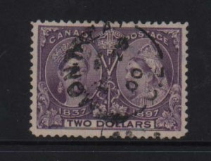 Canada #62 VF Used With CDS Cancel