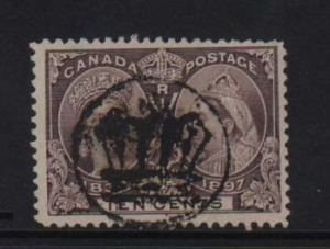Canada #57 Used With Crown Cancel & Reentry Variety