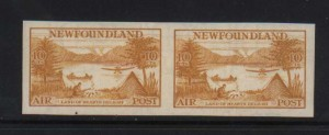 Newfoundland #C14a XF/NH Imperforate Pair