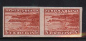 Newfoundland #209a XF/NH Imperf Pair  **With Cert.**