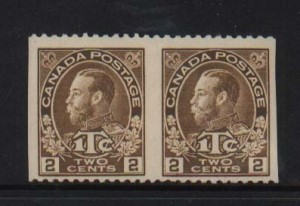 Canada #MR4ii VF Mint Imperf Between Pair