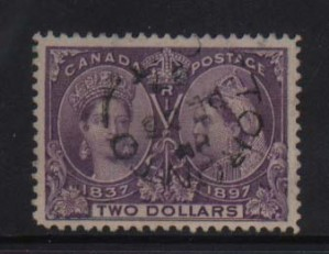 Canada #62 VF Used Gem With Toronto Black CDS Cancel