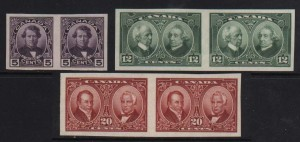 Canada #146a - #148a XF/NH Imperforate Set