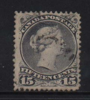 Canada #30c VF Used Lightly Cancelled