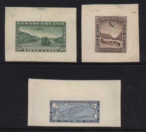 Newfoundland #C6DP - #C8DP A Superb Set Of Die Proofs