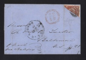 Newfoundland #8a Bisect World Rarity Showpiece On Cover