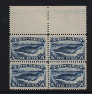 Newfoundland #54 VF/NH Rare Block
