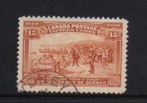 Canada #102 XF Used With Sydney CDS