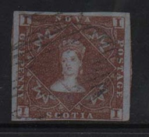 Nova Scotia #1 VF Used Gem **With Certificate**