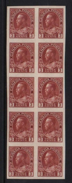 Canada #138 XF/NH Block Of 10