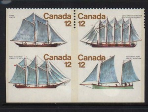 Canada #747b XF/NH Block **With Certificate**