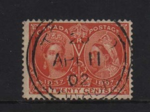 Canada #59i VF Used With S.O.N. CDS Cancel