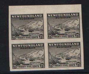 Newfoundland #197a XF Mint Rare Imperf Block