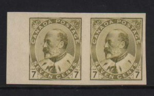 Canada #92a XF Mint Imperforate Pair