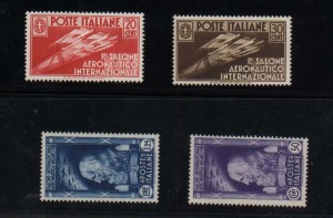 Italy #345 - #348 VF/NH Set