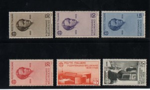 Italy #349 - #354 VF/NH Set
