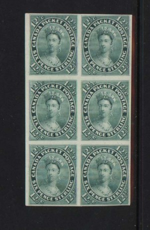 Canada #18TC VF Mint Proof Block Of Six India On Card