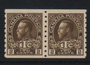 Canada #MR7 NH Mint Pair