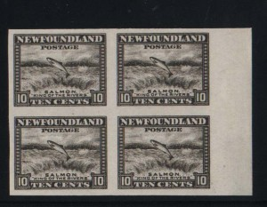 Newfoundland #193a XF Mint Imperforate Block