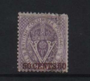 British Columbia #12i VF Used With Inverted Watermark