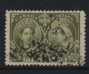 Canada #65 Used Superb Jumbo With Date Cancel  **With Cert.**