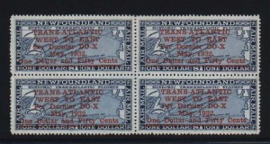 Newfoundland #C12 XF Mint Block