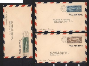 USA #C13 - #C15 XF Used On 1st Day Covers
