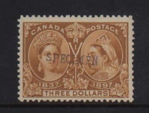 Canada #63s VF/NH Specimen Overprint *With Certificate*