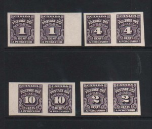 Canada #J15a / #J20a XF/NH Imperforate Pair Set